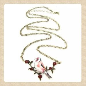 Jewelry - Bird on a Branch Necklace